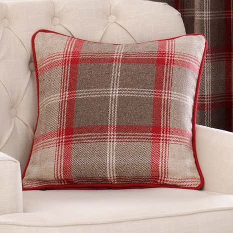 Highland Red Filled Cushion