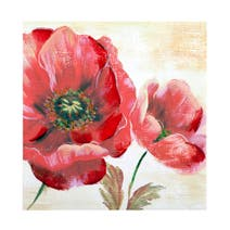 Red Floral Canvas