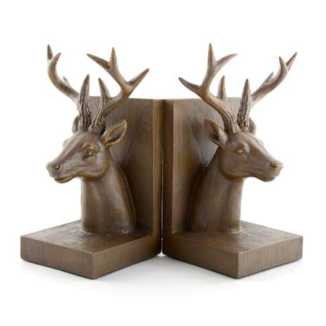 Rustic Ramble Brown Stag Bookends Set