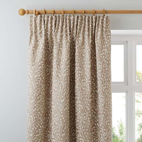 Willow Cream Lined Pencil Pleat Curtains