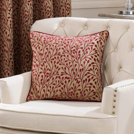 Willow Red Filled Cushion