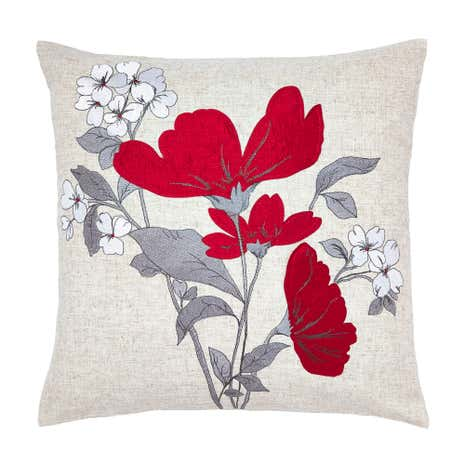 Red Poppy Fields Cushion
