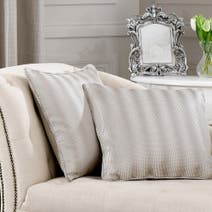 Hotel Silver Ombre Cushion