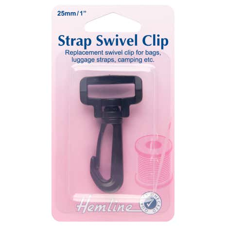 Hemline Black Swivel Clip