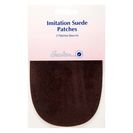 Hemline Pack of Two Sew in Imitation Suede Patches