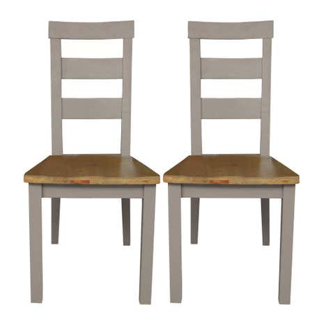 Loxley Grey Pair of Dining Chairs
