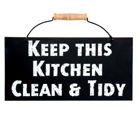Keep This Kitchen Clean Tidy Wall Hanging Dunelm