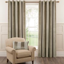 Dorma Natural Fairmont Lined Eyelet Curtains