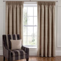 Dorma Beresford Mink Lined Pencil Pleat Curtains