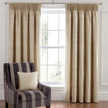Dorma Beresford Champagne Lined Pencil Pleat Curtains