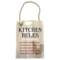 Farmstead Kitchen Rules Plaque
