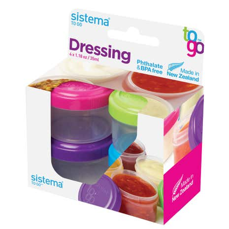 Sistema Pack of 4 Dressing Pots To Go