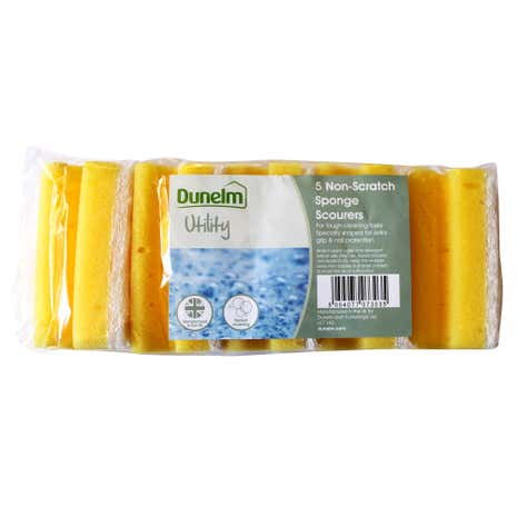 Pack of 5 Non Scratch Sponge Scourers