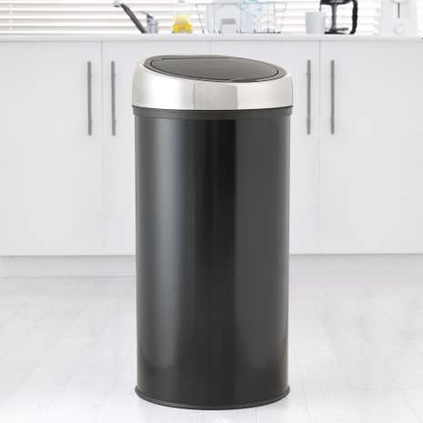 Spectrum Black 30 Litre Top Press Bin