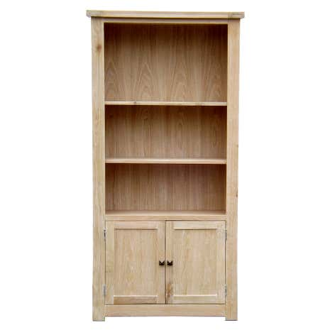 Henley Washed Oak Large Bookcase