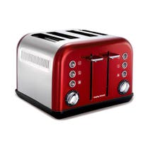 Morphy Richards Accents 242004 Red 4 Slice Toaster