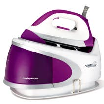 Morphy Richards 5 Bar 2400w Plum Ionic Soleplate Steam Generator Iron