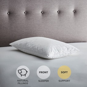 Hotel Anti-Allergy White Goose Feather and Down Soft-Support Pillow