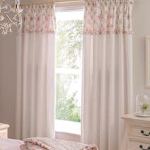 Dorma Woodland Pink Blackout Pencil Pleat Curtains