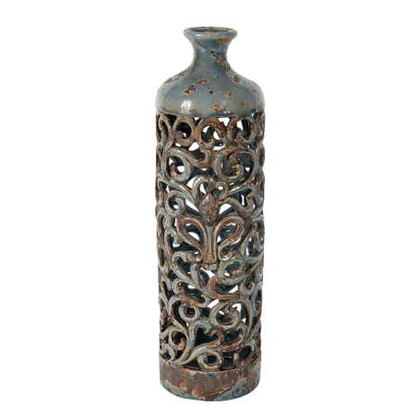 Dorma Blue Decorative Cut Out Vase