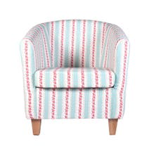 Chloe Stripe Autumn Tub Chair