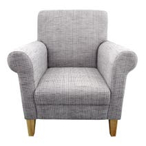 Valencia Grey Textured Weave Armchair
