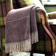 Dorma Plum Maldon Wool Throw