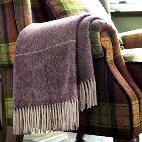 Dorma Maldon Plum Wool Throw