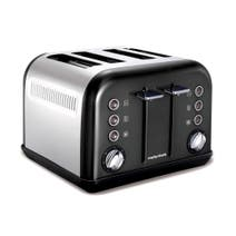 Morphy Richards Accents 242002 Black 4 Slice Toaster