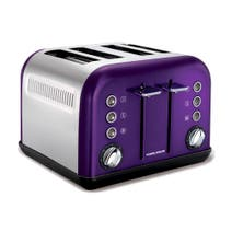 Morphy Richards Accents 242016 Plum 4-Slice Toaster