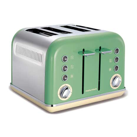 Morphy Richards Accents 242006 Sage Green 4 Slice Toaster