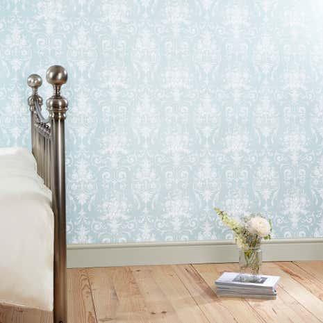 dorma duck egg regency wallpaper dunelm. Black Bedroom Furniture Sets. Home Design Ideas