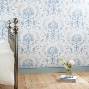 Dorma Blue Toile Wallpaper