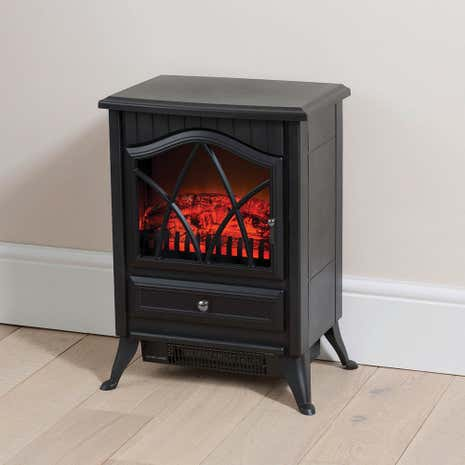 1850W Small Black Stove Effect Heater
