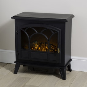 Large Black Stove Effect Heater 1850W