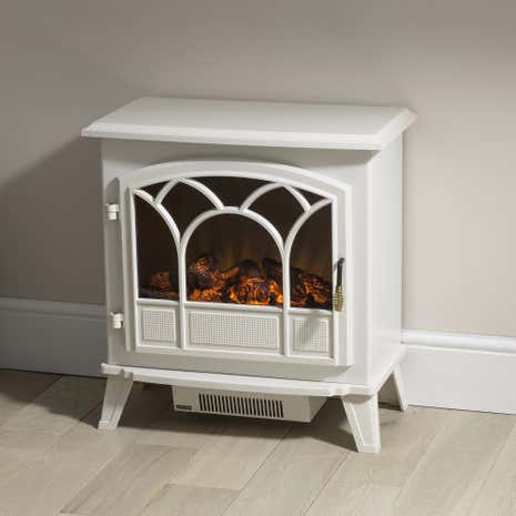 Large Off-White Stove Effect Heater 1850W
