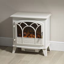 Large White Stove Effect Heater 1850W