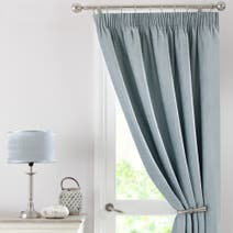 Duck Egg Chenille Thermal Pencil Pleat Door Curtain