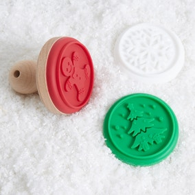Set of 3 Silicone Christmas Cookie Stamps