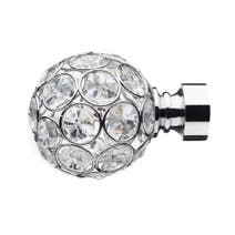 Mix and Match Dia. 28mm Chrome Diamante Ball Finials