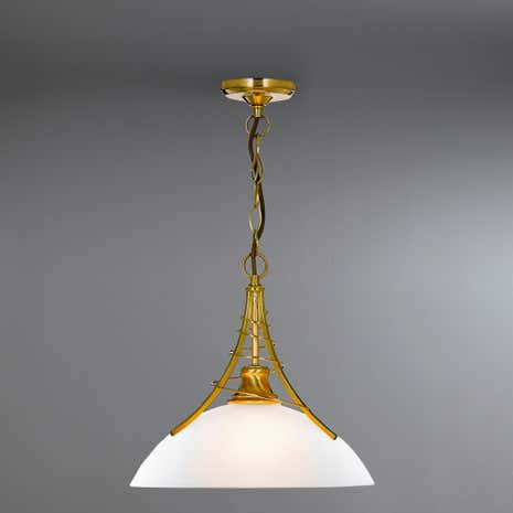 Linea Twist Antique Brass Ceiling Fitting