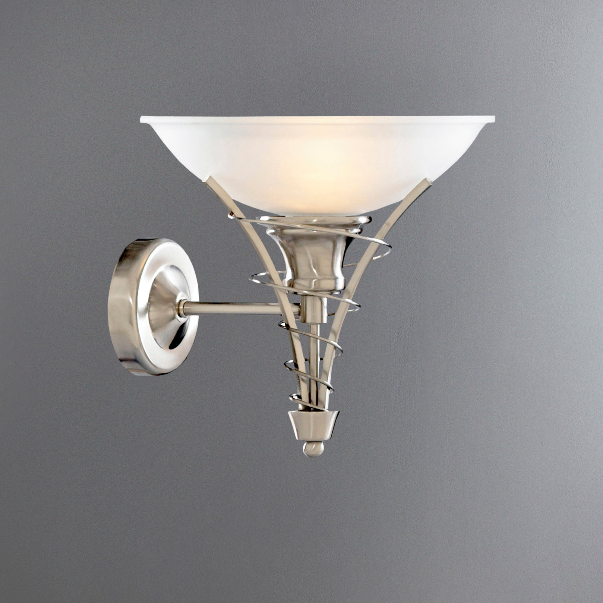 Linea Twist Satin Silver Wall Light Dunelm