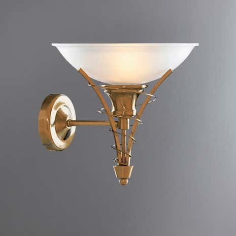 Linea Twist Antique Brass Wall Light