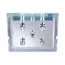 4 Light Square Flush Light Fitting
