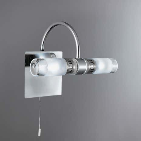 Chrome 2 Light Bathroom Fitting