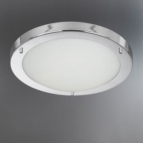 Chrome Flush Light Fitting