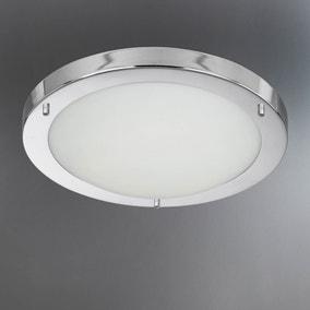 chrome flush light fitting