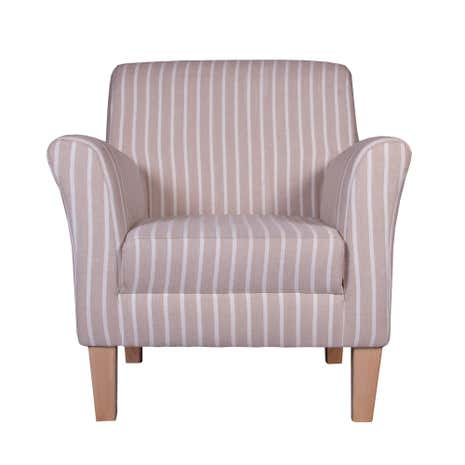 hampton stripe eden chair dunelm. Black Bedroom Furniture Sets. Home Design Ideas