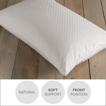 Dorma Silver Pyranean Goose Down Soft-Support Pillow
