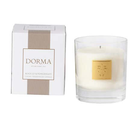 Dorma Small Black Lily and Pomegranate Candle
